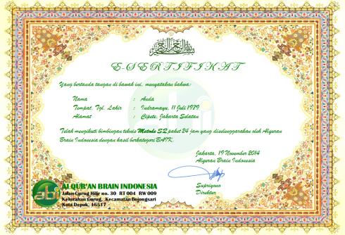 E-sertificate bimtek alquran metode SQ