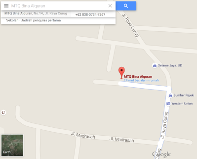 google map MTQ BQ